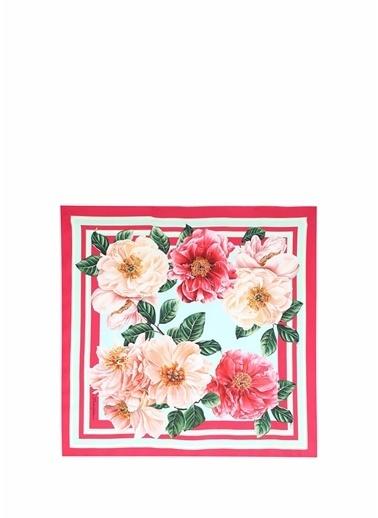 Dolce&Gabbana Dolce&Gabbana   Çiçek Desenli Kadın İpek Eşarp 101618797 Renkli